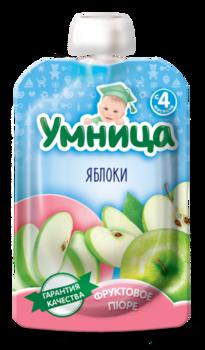 Пюре Умница яблоко 100г с 4месяцев