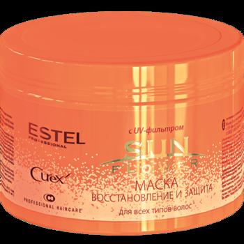 Mască pentru toate tipurile de păr, ESTEL Curex Sun Flower, 500 ml., Restabilire și protecție, cu filtru UV