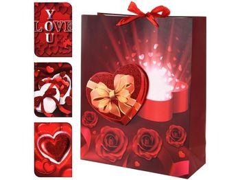 """Пакет подарочный """"Valentine"""" 24X18X8cm,красный"""