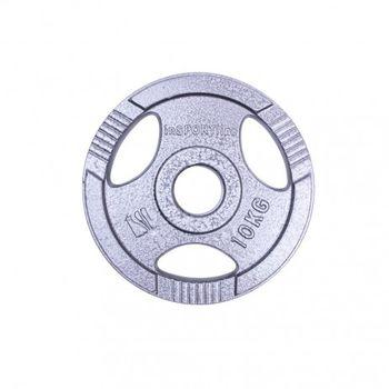 Диск металлический 10 кг d=50 мм inSPORTline 12704 (2735)