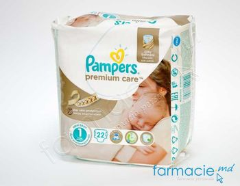 купить Scutece PAMPERS CARRY PREMIUM CARE New Baby 1 N22 (2-5 kg) в Кишинёве