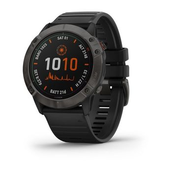"GARMIN fenix 6X Pro Sapphire with Black Band, Multisport GPS Watch for Sport, 1.4"", Water rating 10ATM, 32GB, GPS, Compass, Bluetooth, Smart, ANT+, Wifi, Smart notifications and Activity Tracking Features, Battery up to 80 days, 93g"
