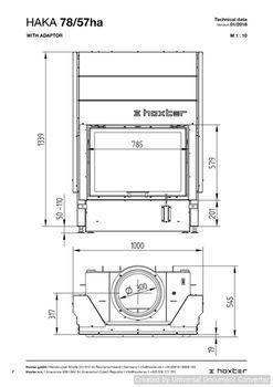 Каминная топка - HOXTER HAKA 78/57hа