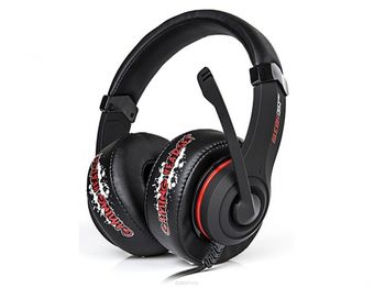 "MARVO ""H8319"", Gaming Headset, Microphone, 40mm driver unit, Volume control, Adjustable headband, 3.5mm jack, Braided cable, 2.7m, Black-Red"
