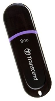 Transcend JetFlash 300 8GB Glossy, Black Hi-Speed (Read 18 MByte/s, Write 10 MByte/s)