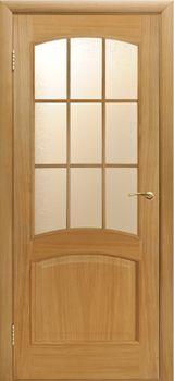 Дверь КАПРИ-3 светлый дуб остекленная ПО