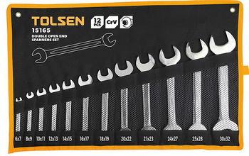 купить Набор ключей рожковых - 12шт в чехле (6-32мм) TOLSEN в Кишинёве