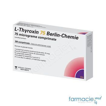 купить Л-Тироксин табл. 75 мкг N25x4 в Кишинёве