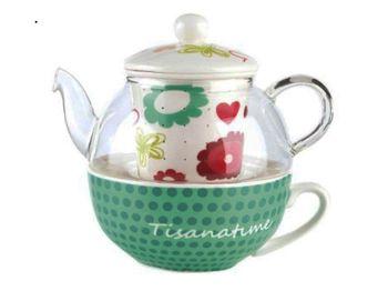 купить Чайник заварочный 500ml Elisir Vivage, с чашкой в Кишинёве