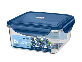 Контейнер герметичный Phibo Brilliant 1.15l, 16X16X8cm, син