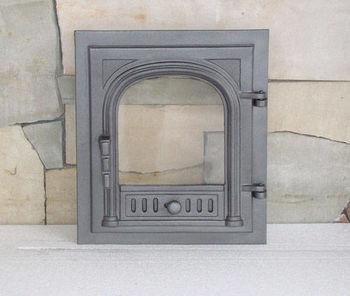 Дверца чугунная со стеклом правая FPG2