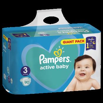 cumpără Pampers Scutece Giant Pack 3, 6-10 kg, 90 buc în Chișinău