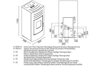 Печь пеллетная с водяным контуром - HYDRO 27 кВт
