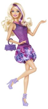 Барби кукла Модница фиолетовая