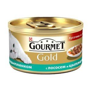 купить Gourmet Gold (курица и лосось), 85гр в Кишинёве