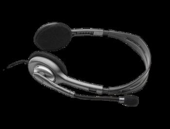 Logitech Stereo Headset H111, Headset: 20Hz-20kHz, Microphone: 100Hz-16kHz, 1.8m cable, 1 x mini-jack 3.5mm, 981-000593 (casti cu microfon/наушники с микрофоном)