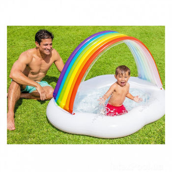 купить Intex Детский надувной бассейн Радуга Облако в Кишинёве