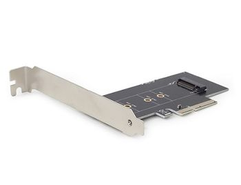 PCI-E Card - Gembird PEX-M2-01, PCI-Express add-on card, M.2 SSD adapter, M.2 flash memory module (2280, 2260, 2242), Low-profile brackets