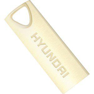 16GB USB2.0  Hyundai Bravo Deluxe Metal casing, Gold, Compact and lightweight, (Read 18 MByte/s, Write 10 MByte/s)