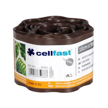 купить Бордюр огородно-газон. 10см х 9м - рефленый, коричневый Cellfast в Кишинёве