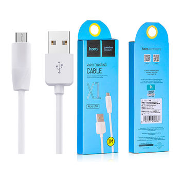 купить Hoco X1 Rapid Charging Micro USB cable 1.0m, White в Кишинёве