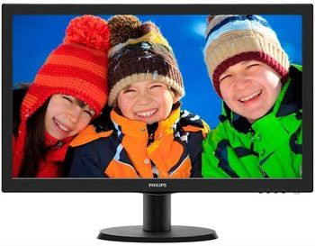"23.6"" PHILIPS LED 243V5LHAB Black (5ms, 10M:1, 250cd, 1920x1080, DVI, HDMI, Speakers)"
