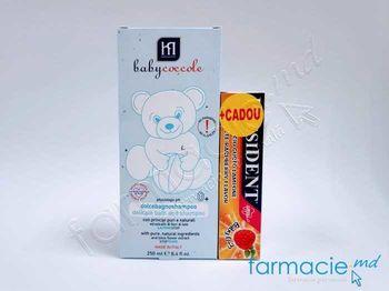 купить Sampon-spuma de baie pt copii BabyCoccole 250ml (0luni+) (4141)+Pasta de dinti pt copii President Zmeura (0-3ani) 30ml CADOU в Кишинёве