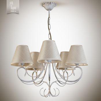 N&B Light Люстра Женева 6205-3 бело-золотая структура/блестящий беж