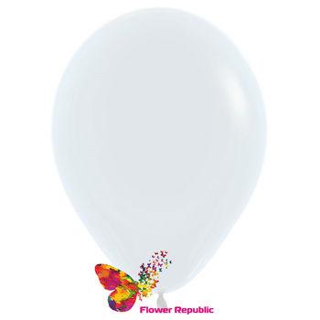 купить Латексный воздушный шар Белый -30 см в Кишинёве