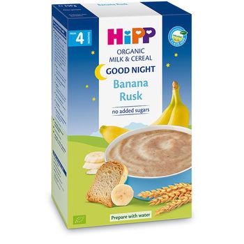 купить Hipp каша Спокойной ночи органическая молочная с сухариками и бананом, 4+мес. 250г в Кишинёве