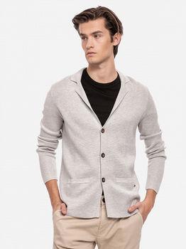 Пиджак TOM TAILOR Серый меланж