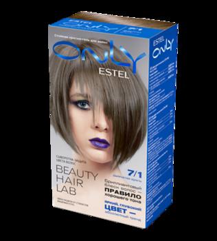 Краска для волос,ESTEL Only, 100 мл., 7/1 - Русый пепельный