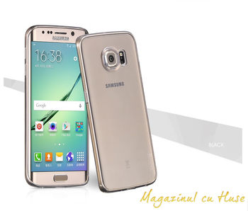 купить Hoco light series TPU case Samsung S6 EDGE Plus, Black в Кишинёве