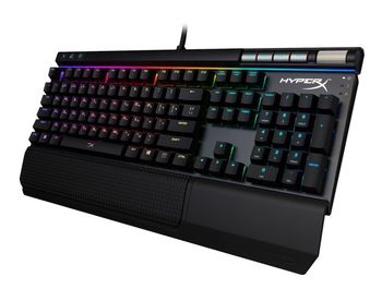 KINGSTON HyperX Alloy Elite RGB Mechanical Gaming Keyboard (RU), Mechanical keys (Cherry® MX Brown key switch) Backlight (Red), 100% anti-ghosting, Key rollover: 6-key / N-key modes, Ultra-portable design, Solid-steel frame,Detachable wrist rest, USB