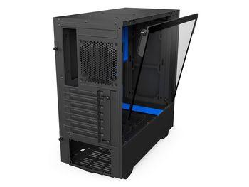 cumpără Case NZXT H500 Black Blue (CA-H500B-BL) în Chișinău