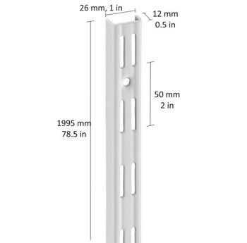 cumpără Profil perete perforație dublă 1995 mm, alb în Chișinău