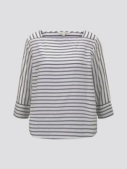 Блуза TOM TAILOR Серый/белый 1016494 tom tailor