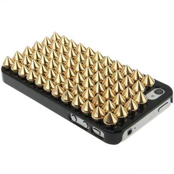 """Чехол """"Шипы"""" черный для iPhone 4 / 4S"""