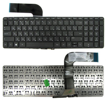 "Keyboard HP Pavilion 15-P 15-p00 17-F  w/o frame ""ENTER""-small ENG/RU Black"