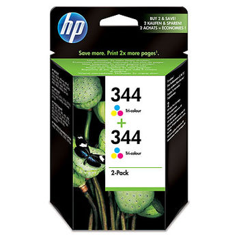 HP No.344 Tri-Color Print Cartridge 2-pack C9505EE