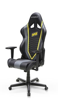 Gaming Chairs DXRacer - Racing GC-R60-NGY-Z1, Black/Grey/Yellow - PU leather, Gamer weight up to 100kg / growth 165-195cm, Foam Density 50kg/m3, 5-star Aluminum IC Base, Gas Lift 4 Class, Recline 90*-135*, Armrests: 3D, Pillow-2, Caster-2*PU, W-23kg