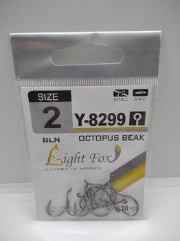 Крючки Light Fox Y-8299 Nr2, 10шт