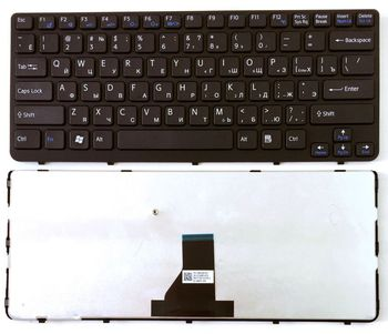 Keyboard Sony SVE14 w/frame ENG/RU Black
