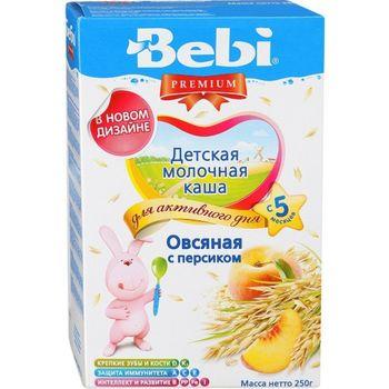 купить Bebi Premium каша овсяная молочная с персиком, 5+мес. 250г в Кишинёве