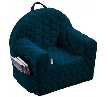 купить Кресло детское Klups Velvet kids Blue в Кишинёве