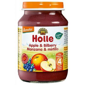 Пюре с яблоком и черникой с 4 месяцев Holle, 190 г