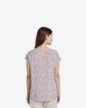 Блуза TOM TAILOR Белый с цветами 1016490 tom tailor