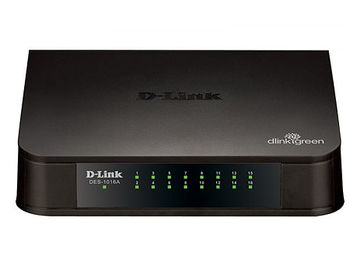 D-Link DES-1016A/E1B, 16-port UTP 10/100Mbps Auto-sensing, Stand-alone, Unmanaged (retelistica switch/сетевой коммутатор)