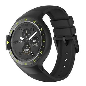 "Mobvoi  Ticwatch S  Knight Black, 1.4"" OLED Touch Display, Wear OS by Google, 512MB/4GB, GPS, Time, Mic/Speaker for incoming calls, Heart Rate, Steps, Alarm, Distance Display, Average Daily Steps, Weather, Notifications, IP67, 48Hrs+, BT4.1, 45.5g"