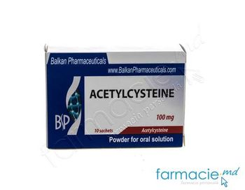 купить Bronhoclean (Acetilcisteina) pulb./sol.or. 100 mg 3 g N10 (Balkan) в Кишинёве